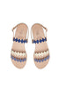 Ancient Greek Sandals X Le Sirenuse Clio Onda  Blue Multi