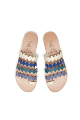 Ancient Greek Sandals X Le Sirenuse Niki Onda  Blue Multi