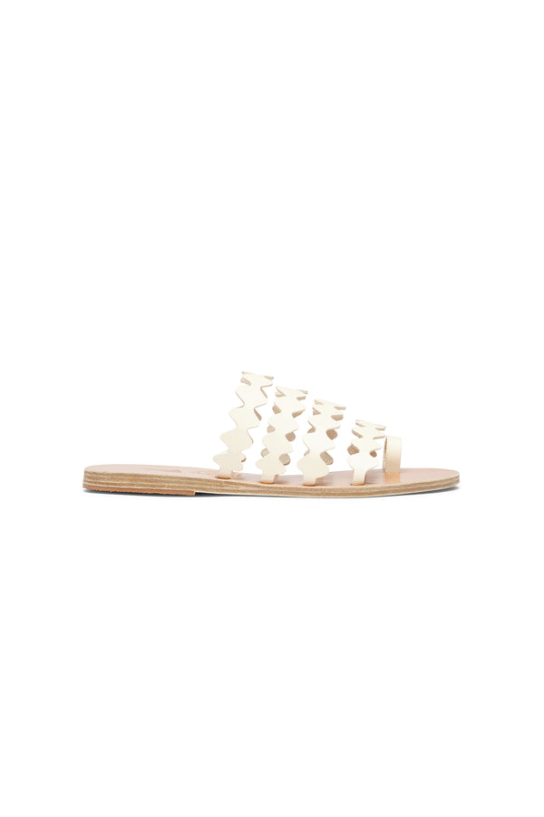 Ancient Greek Sandals X Le Sirenuse Niki Onda  Off White