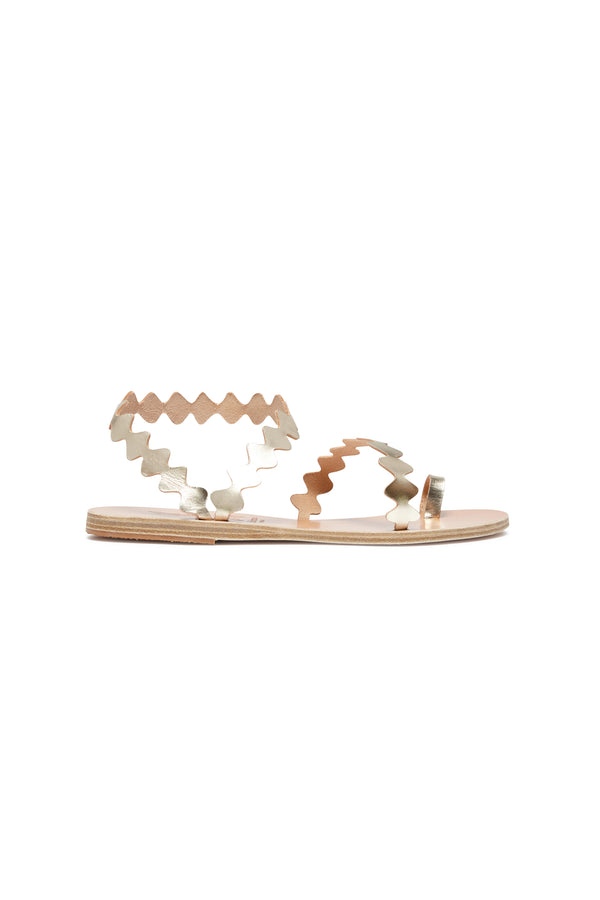 Ancient Greek Sandals X Le Sirenuse Elephteria Onda Platinum
