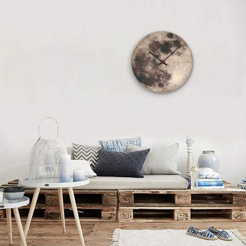 Wooden-moon-wall-clock