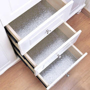 Metallic-Sliver-Oil-proof-Kitchen-Wallpaper-on-drawers