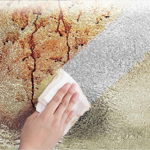 Metallic-Sliver-Oil-proof-Kitchen-Wallpaper-wiping-oil-out