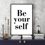 Be-Your-Self-Modern-Lady-Wall-Art-text-2
