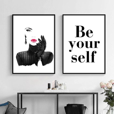 Be-Your-Self-Modern-Lady-Wall-Art-2