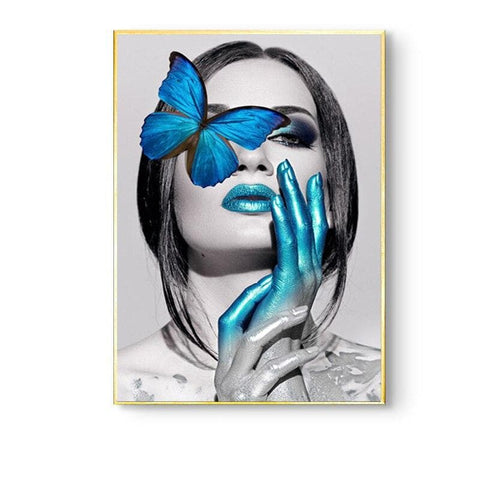 Nordic-Girl-Canvas-Wall-Art-butterfly-butterfly-eye-blue