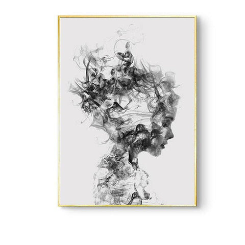 Nordic-Girl-Canvas-Wall-Art-smoky-figure-looking-down