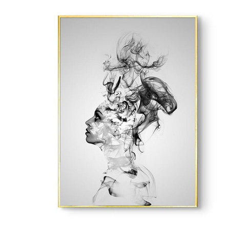 Nordic-Girl-Canvas-Wall-Art-smoky-figure-looking-up