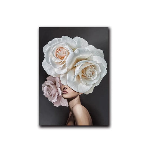 pink-white-flower-lady-poster-canvas-a