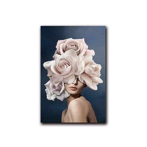 pink-white-flower-lady-poster-canvas-d