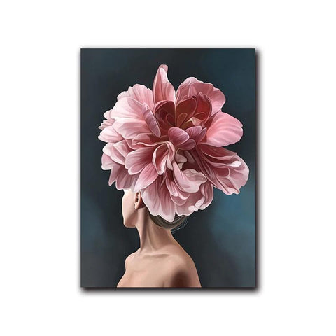 pink-white-flower-lady-poster-canvas-b