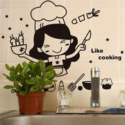Cooking-Girl-Kitchen-Wall-Sticker-Decal-on-kitchen-tile