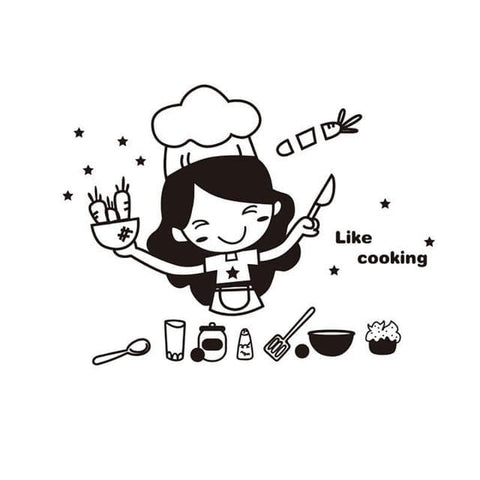 Cooking-Girl-Kitchen-Wall-Sticker-Decal-like-cooking