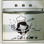 Cooking-Girl-Kitchen-Wall-Sticker-Decal-on-stove