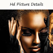 black-and-gold-african-woman-canvas-art-print-hd-details 1