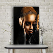 Black Gold African Woman Art - Wall Decor - Home Décor - Canvas Painting