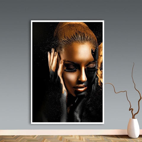 black-woman-gold-paint-face