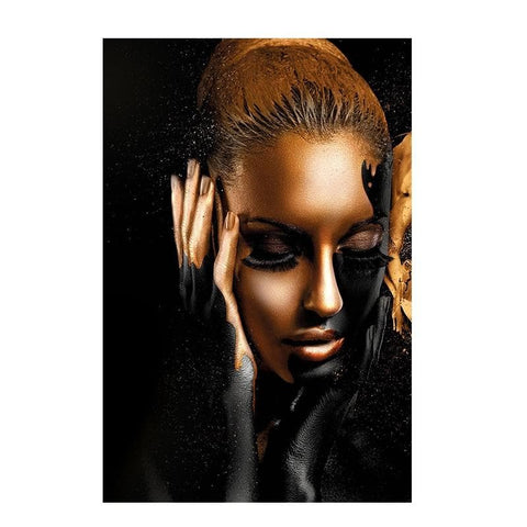 Black-Gold-African-Woman-Canvas-Art-Print