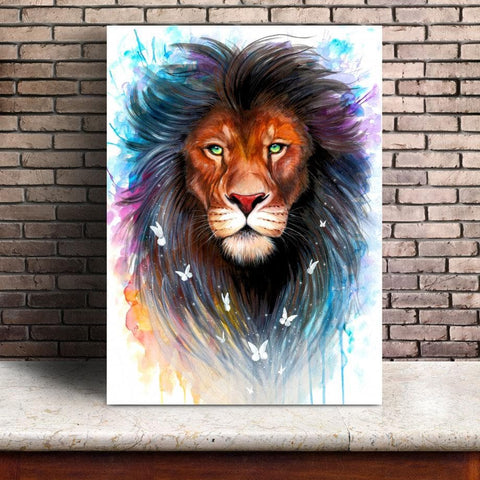 Galaxy-Lions-Wall Art-Canvas-Print-displayed