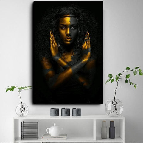 Black-and-Gold-African-Nude-Woman