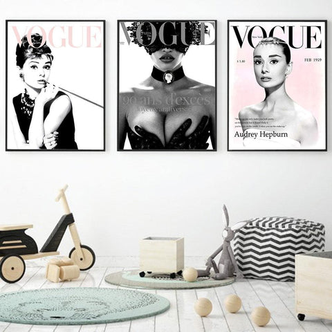 Vogue Woman Figure Wall Art Painitng - Canvas Painting - Wall Art