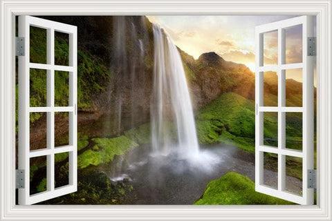 Waterfall 3D Window View Wall Sticker