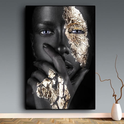 black-and-gold-black-woman-canvas-art-print