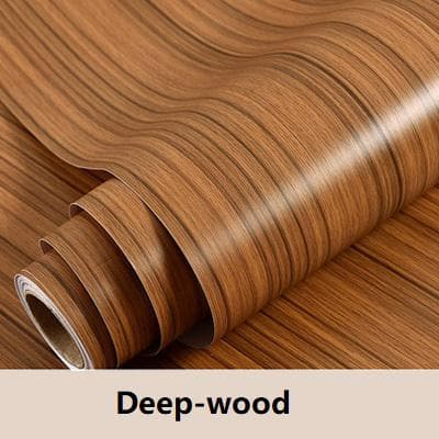 PVC-Wood-Wallpaper-Décor-for-Cabinets-deep-wood