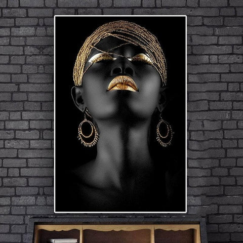Black African Woman Canvas Posters - wall decor - Home Décor