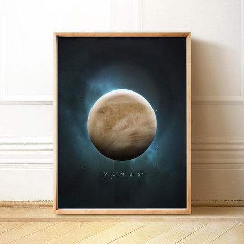 Solar System Planets Wall Art Canvas Painting
