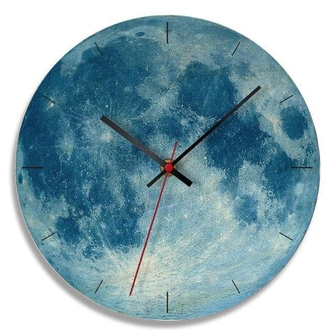 Modern-Wood-Moon-Wall-Clock- Home-Décor-blue