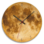 Modern-Wood-Moon-Wall-Clock- Home-Décor-yellow