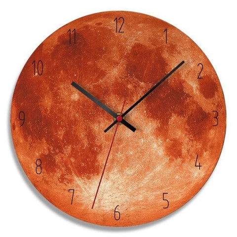Modern-Wood-Moon-Wall-Clock- Home-Décor-orange