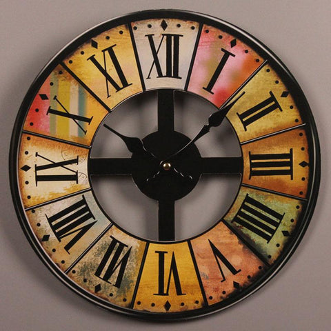 Vintage-Wooden-Wall-Clock-Home-Décor-roman-numbers