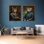 Retro-Style-Pet-Cat-Head-Canvas-Poster