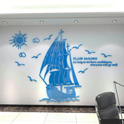 DIY-Sailboat-3D-Wall-Décor-Sticker-blue