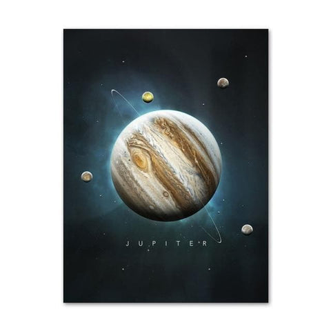 Planets Wall Art Canvas Painting - Home Decor - canvas poster - Wall Art