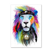 Lion-Wall Art-Canvas-Print-peace-neckless