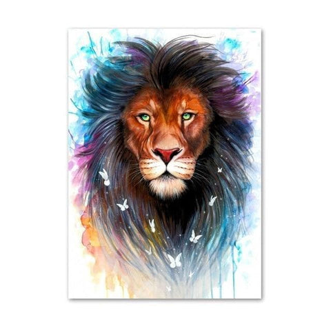 Galaxy-Lions-Wall Art-Canvas-Print-3