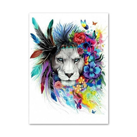 Galaxy-Lions-Wall Art-Canvas-Print-2