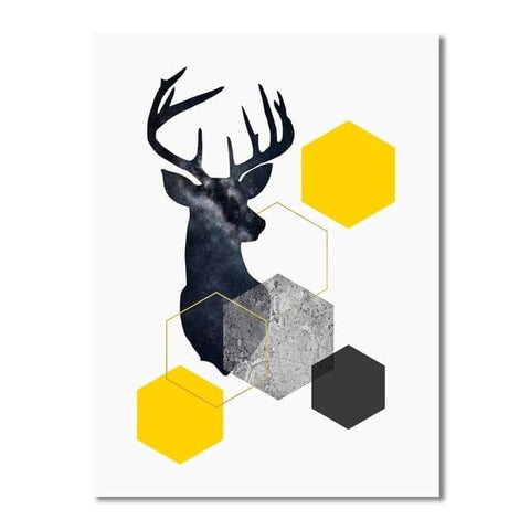 Nordic Style Geometric Starry Canvas Wall Art - Canvas Wall Art - Wall Art