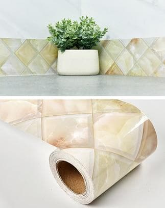 Modern Marble Baseboard Wood PVC Wallpaper