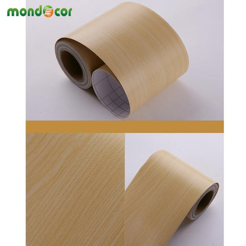 Wall Border Skirting Stickers Waterproof Wood Wallpaper - Wood Wallpaper