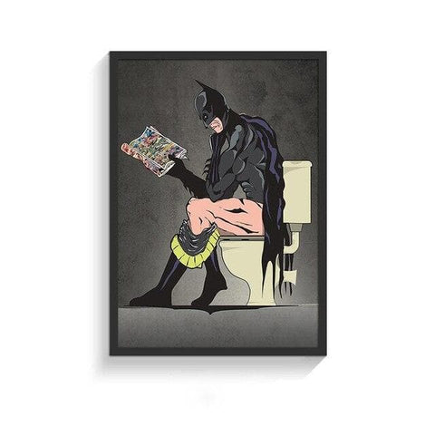 Funny-Super-Heroes-Toilet-Poster-batman-side