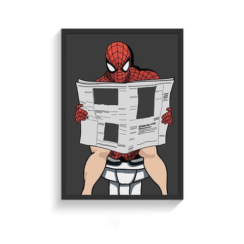 Funny-Super-Heroes-Toilet-Poster-spiderman