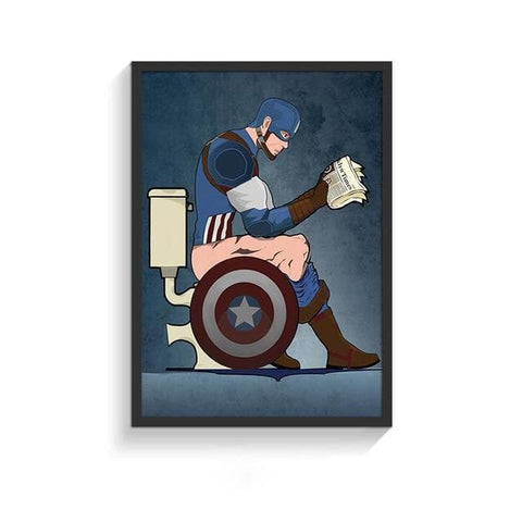 Funny-Super-Heroes-Toilet-Poster-captain-America