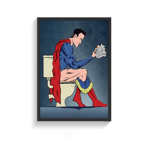 Funny-Super-Heroes-Toilet-Poster-superman-side