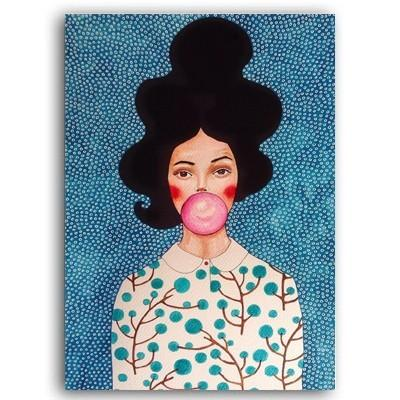 Fashion Flower Woman Abstract Canvas Art Painting
