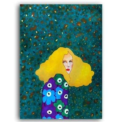Abstract Face Art Woman Face Painting | Canvas Art  WallRo
