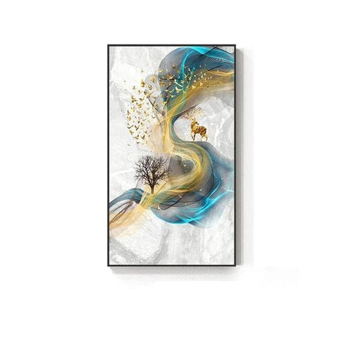 Abstract-Golden-Deer-Painting-Wall-Art-3